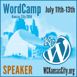 I'm a Speaker at WordCamp Kansas City 2014