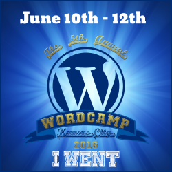 I went to WordCamp Kansas City 2016