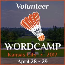 I'm a Volunteer at WordCamp Kansas City 2017