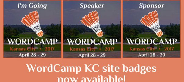 Show your support for WordCamp Kansas City 2017 with blog and website badges!